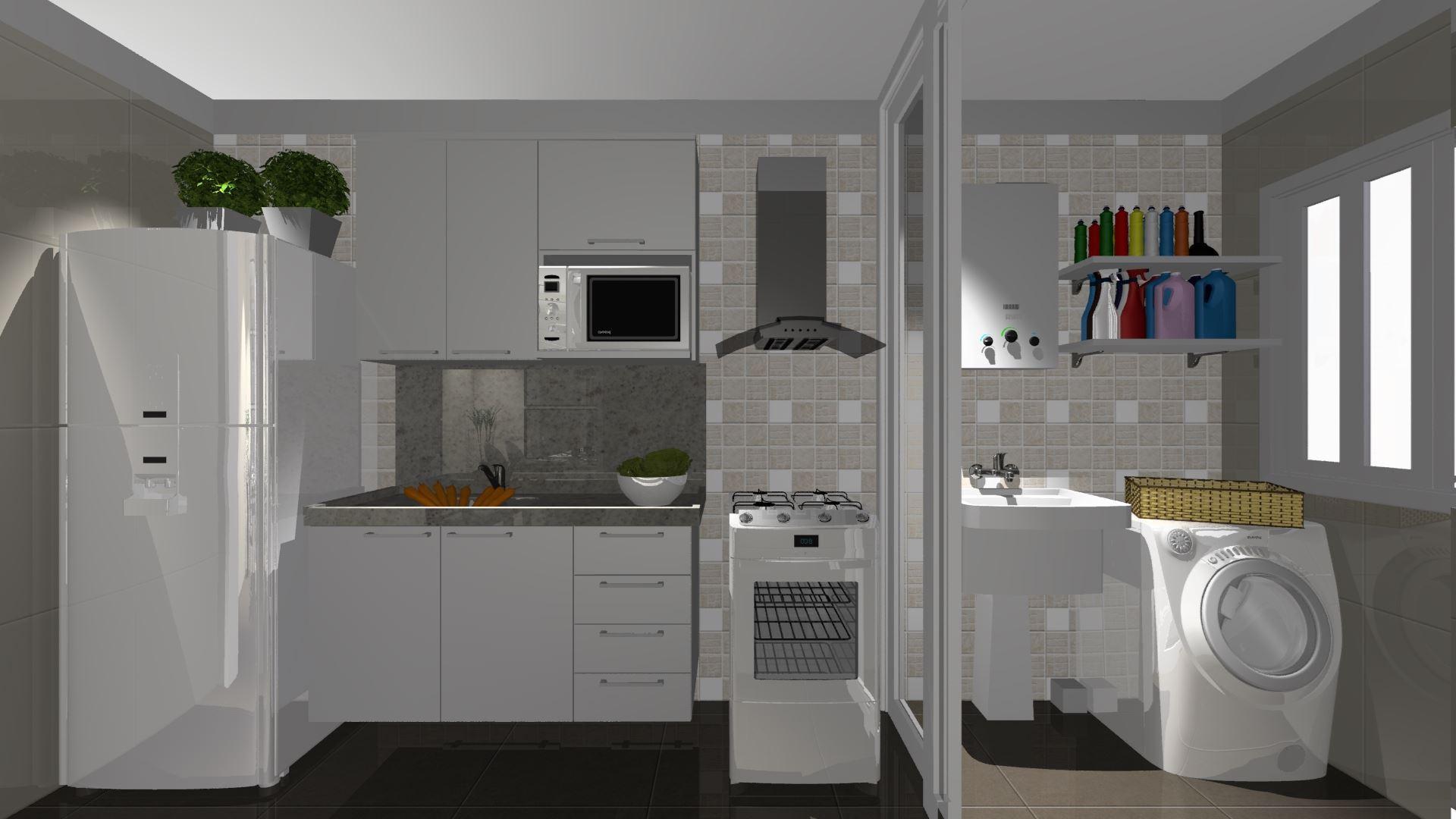 Cozinha Planejada com Área de Serviço