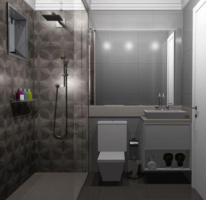 Banheiro Social vista Frente
