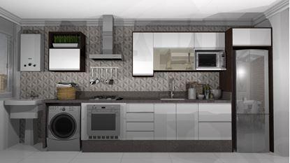 Cozinha Reta vista Externa