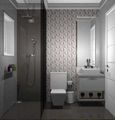 Imagem de Banheiro Social Econômico  Vittace Uvaranas (2 quartos - Planta B e C)