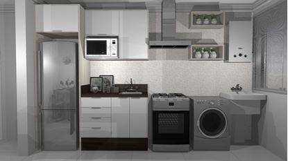 Imagem de Cozinha Planejada Econômica  Vittace Uvaranas (2 quartos - Planta C)