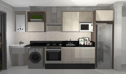 Imagem de Cozinha Planejada Premium Vittace Uvaranas (3 quartos - Planta C)