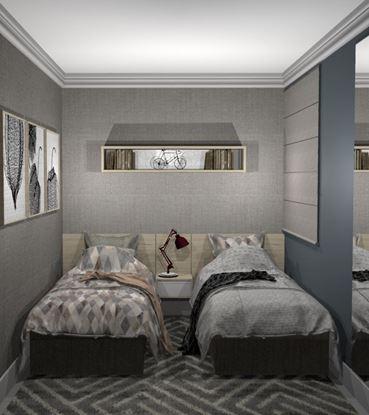 Imagem de Quarto Solteiro Duo Premium Vittace Uvaranas (3 quartos - Planta C)