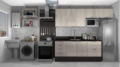 Imagem de Cozinha Planejada Econômica Vittace Uvaranas (3 quartos - Planta C)