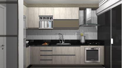 Cozinha Planejada em L - Visão Frontal