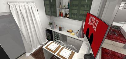 Bar para Apartamento - Visão Superior