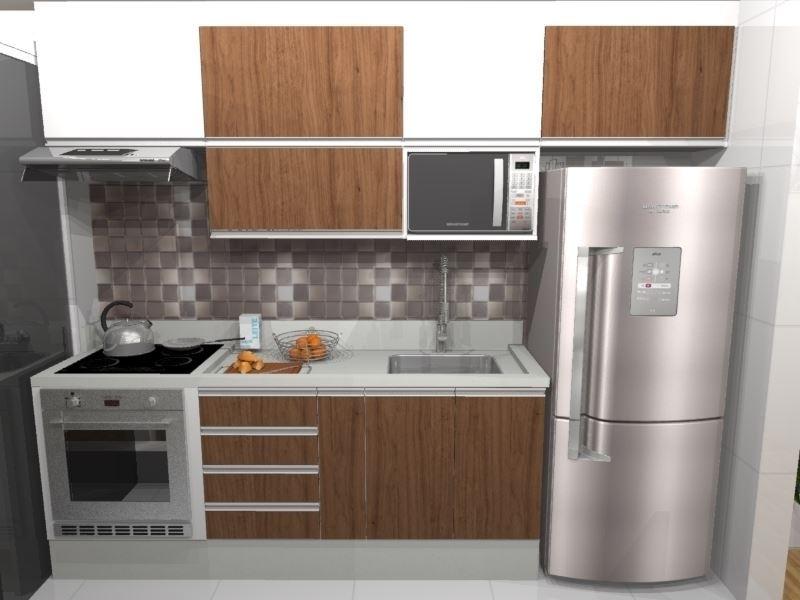 Cozinha para Apartamento - Visão Frontal