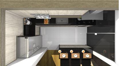 Cozinha Planejada Para Espaço Pequeno-Visão Superior