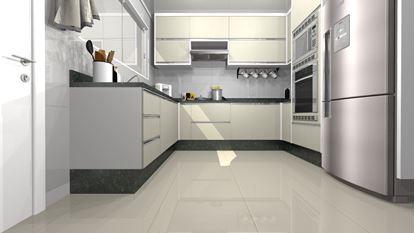 Cozinha Planejada Simples e Barata - Frontal