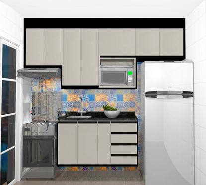 Imagem de Cozinha Planejada em Apartamento