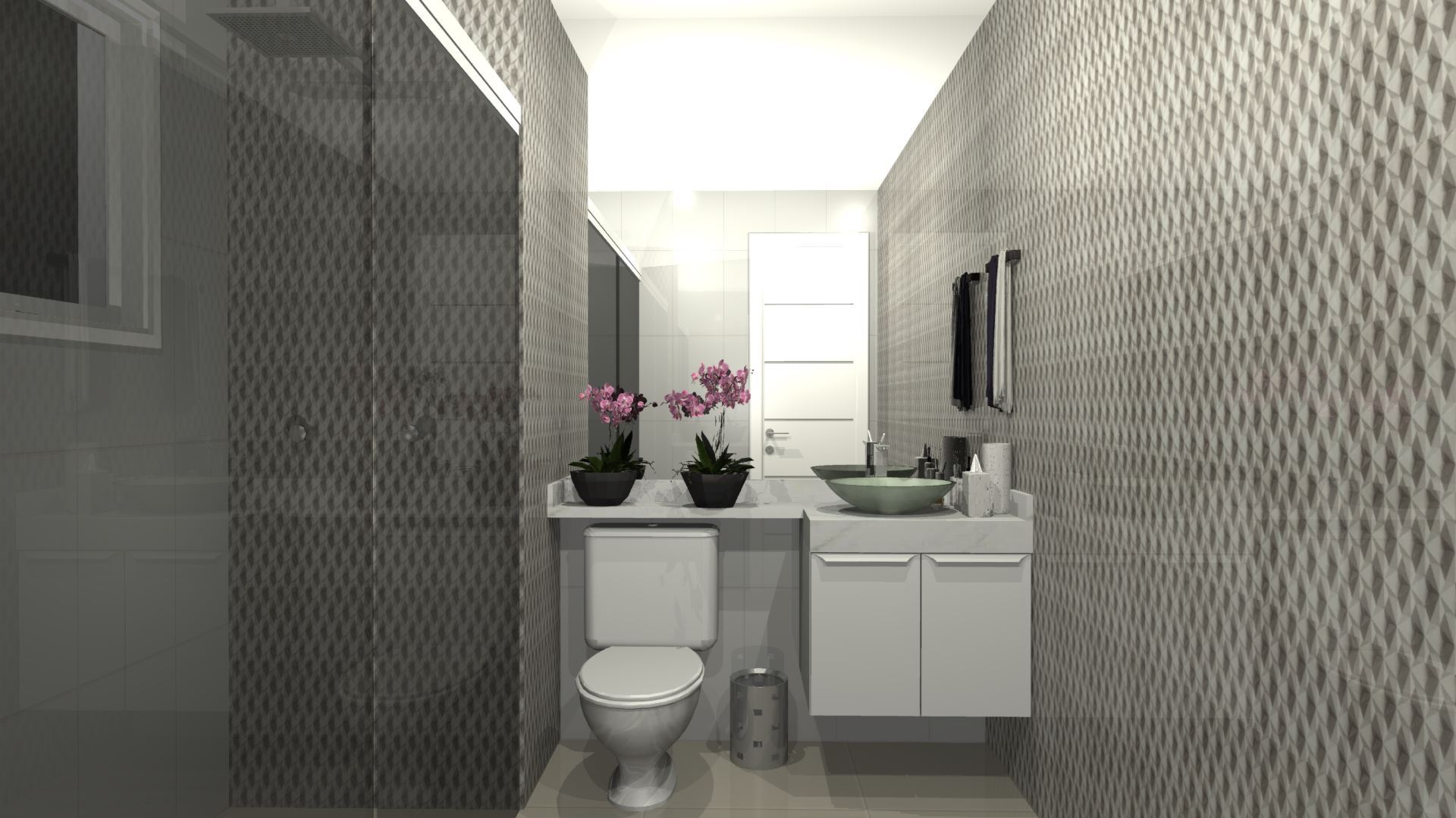 Armário Banheiro Pequeno Planejado