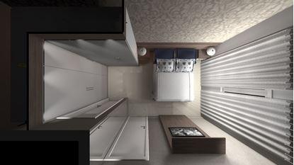 Dormitorio Casal, com modulação de canto reto