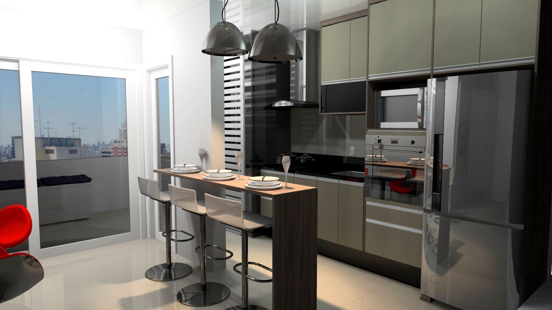 Cozinha com ótima funcionalidade e praticidade