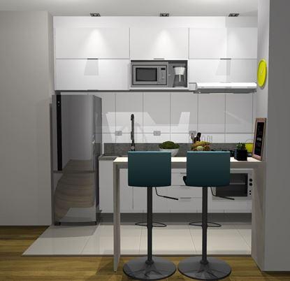 cozinha planejada reta