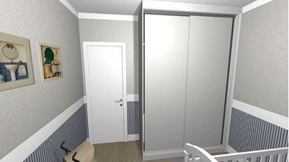 Armário com portas deslizantes