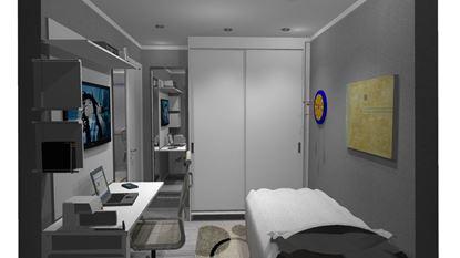 Imagem de Dormitório com Guarda Roupa Completo