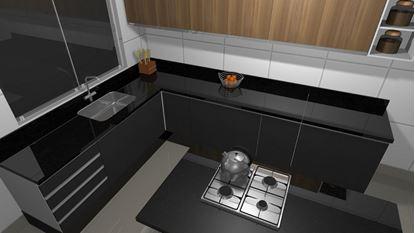 Imagem de Cozinha Planejada com Torre Quente