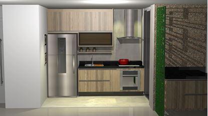 Imagem de Cozinha Planejada com Ilha