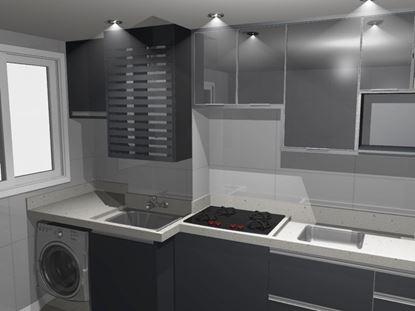 Modulo para embutir e adaptar aquecedor de lavanderia