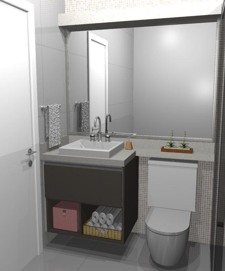 Gabinete Para Banheiro Ref 2598