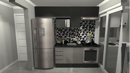 Cozinha e lavanderia Planejada