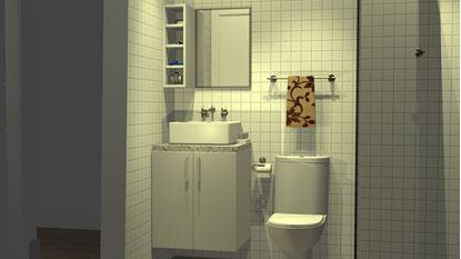 Banheiro com Nicho superior