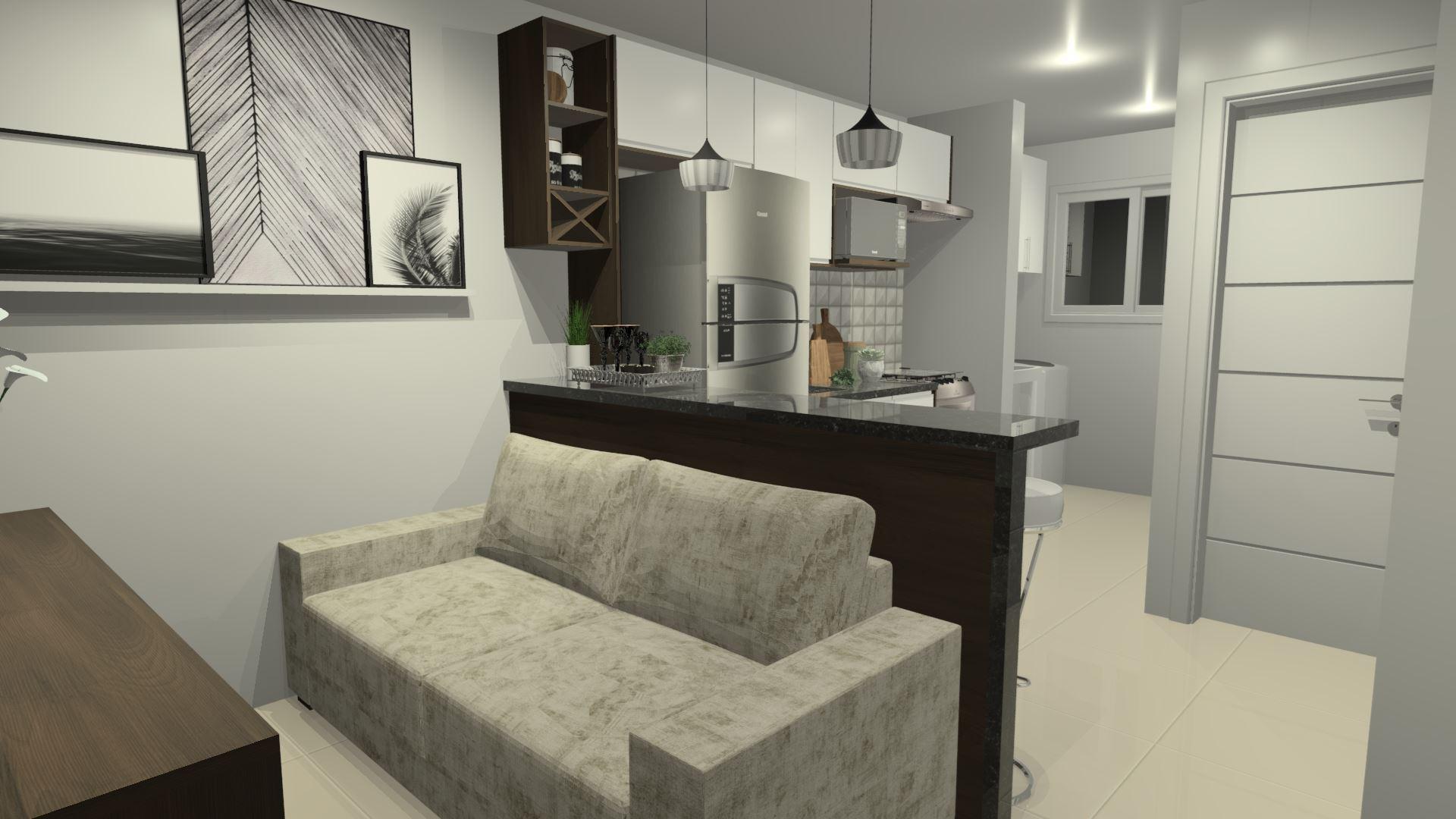 Cozinha e sala Completa!