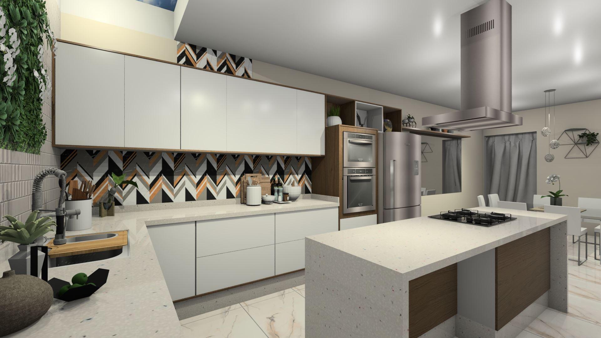 Cozinha Ampla com Sala de Jantar!